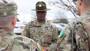Army Staff Sergeant Damienne Ladd, 344th Military Intelligence Battalion Drill Sergeant
