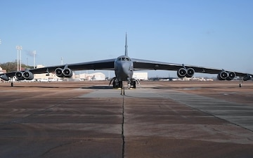 B-52s depart for Nellis AFB - BROLL