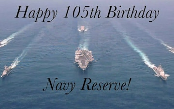 "CLDJ's ""Why I Serve""...Happy 105th Birthday Navy Reserve"