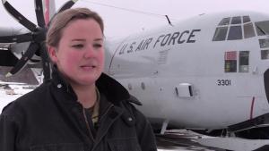 Staff Sgt. Jessica Peck interview at Arctic Edge 2020