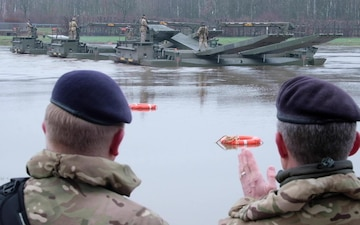 NATO troops rehearse river crossing drills ahead of Defender Europe