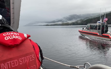 Coast Guard Station Ketchikan crews conduct firearms training, Alaska