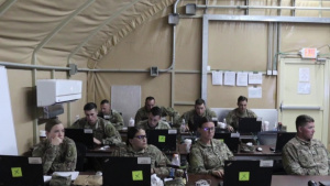 Deployed National Guard Troops Attend Retention Course