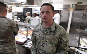 CSM Cobb discusses food, health at Muleskinners DFAC opening