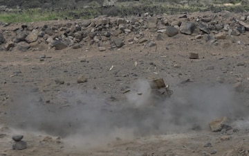 EOD Conducts Explosive Ordinance Disposal Training B-Roll (Slow Motion)