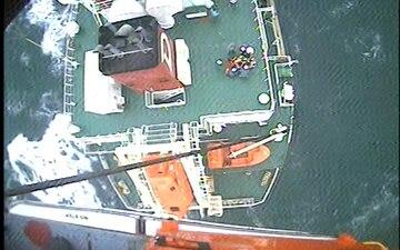 Coast Guard aircrew medevacs cargo ship captain off Ocean City, Maryland