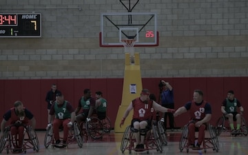 2020 Marine Corps Trials Wheelchair Basketball Finals B-Roll