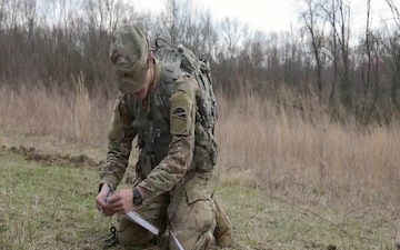 Soldiers test their land navigation skills during the 2020 Combined JBMDL Best Warrior Competition