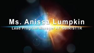 AFWERX Virtual Spark Collider - Anissa Lumpkin - Part 1