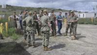 Camp Pendleton Marines set up a medical isolation and observation center