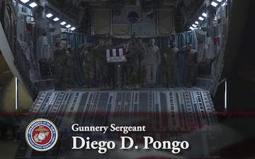 Gunnery Sgt. Diego D. Pongo - Dignified Transfer