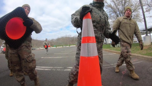 New Jersey National Guardsmen prepare to activate a Mobile Testing Site