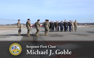 Sgt. 1st Class Michael J. Goble - Dignified Transfer