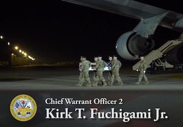 Chief Warrant Officer 2 David C. Knadle and Chief Warrant Officer 2 Kirk T. Fuchigami Jr. - Dignified Transfer