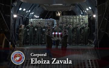 Cpl. Eloiza Zavala - Dignified Transfer