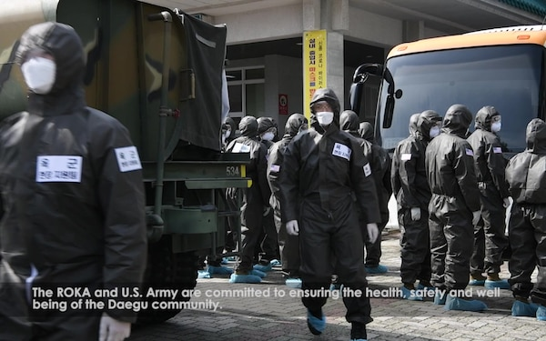 U.S. Army & ROK Army Team up in Fight Against COVID-19