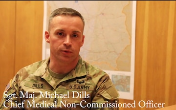 1st Infantry Division (FWD) chief medical NCO discusses COVID-19
