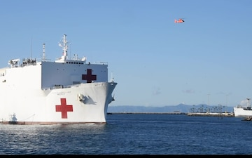 USNS Mercy's Arrival in Port of Los Angeles