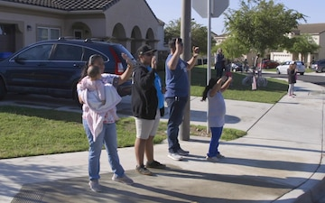 Mary Fay teachers come together to host parade for students