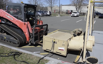 Connecticut Air National Guard constructs mobile shelters in support of COVID-19 response (B-Roll)