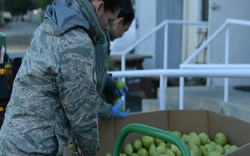 California Air National Guard assists with delivery of donated food to distribution centers