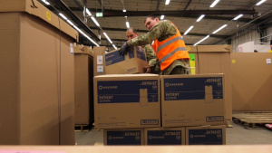Reserve Soldiers support COVID-19 supply effort