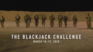 "Deployed ""Best Warriors"" Compete in Blackjack Challenge"