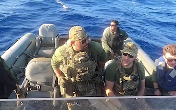 USS Detroit Conducts Small Boat Operations