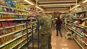 Airmen Volunteer at the Commissary