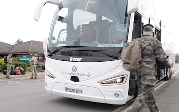 COVID-19 - NATO staff deploy to London in support of efforts to combat coronavirus B-Roll 2 of 2