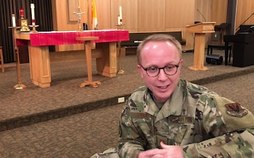 Discussing resilience with chaplain Gabe Lawson