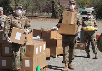 California Guardsmen assist food distribution to Napa Valley residents