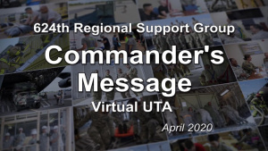 Virtual UTA Commander's Message - April 2020