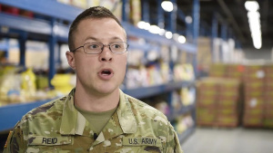 Ohioans Serving Ohioans: Ohio National Guard Helps at Food Bank (NO LOWER THIRDS OR MUSIC)