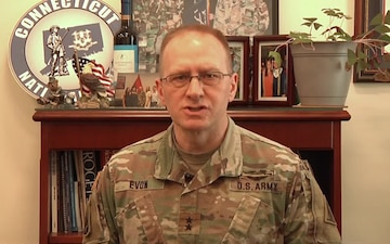 Maj. Gen. Evon thanks his troops for their hard work during COVID-19 outbreak