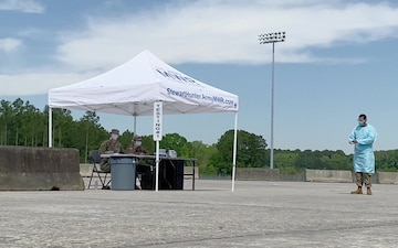 Fort Stewart-Hunter Army Airfield opens COVID-19 screening site (B-Roll)