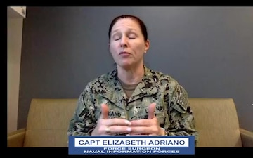 FaceBook virtual townhall with CAPT Elizabeth Adriano, Force Surgeon, Naval Information Forces.