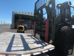California National Guard's 146th Airlift Wing transports pallets of ventilators bound for New York