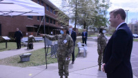 Quotes and footage of Secretary of the Army Ryan McCarthy at Fort Lee, VA