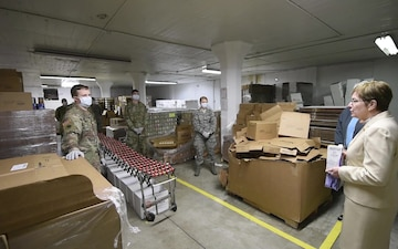 Ohioans Serving Ohioans: Marcy Kaptur Visits Ohio National Guard Members at Food Bank