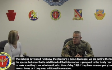 Commander answers questions from 28th ECAB FRG