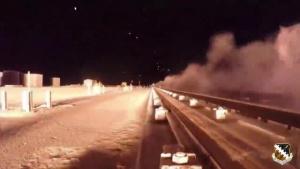 Hypersonic sled travels at 6,599 mph (Mach 8.6) at Holloman Air Force Base