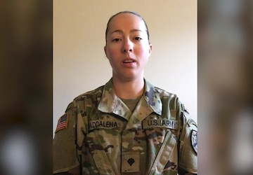 Woodland, CA Soldier thanks medical workers across the Nation