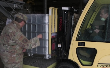 Edwards AFB receives 500 gallons of hand sanitizer