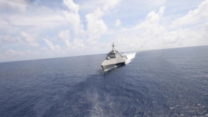 USS Gabrielle Giffords Patrolling South China Sea