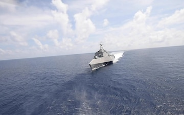 USS Gabrielle Giffords Patrolling South China Sea