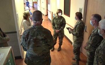 Lt. Gen. Laura Richardson visits Stamford Hospital
