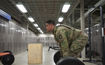 1st Lt. James West speaks on the importance of physical training