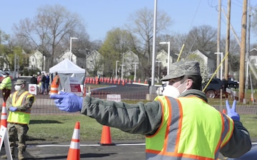 Connecticut National Guard supports COVID-19 drive-through testing site