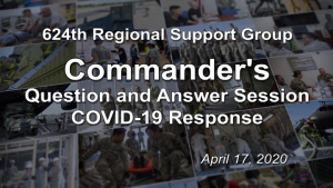 Commander's COVID-19 Question and Answer Session April 17, 2020